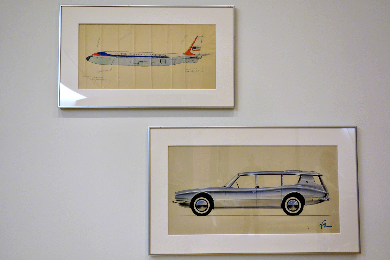 The two Raymond Loewy drawings recently acquired by MoMA