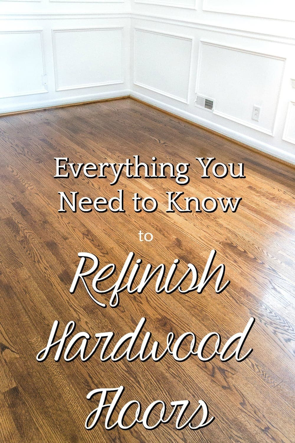 Everything You Ever Needed to Know to Refinish Hardwood Floors | A step-by-step tutorial for refinishing an existing hardwood floor, including a complete list of materials from @minwax and tips for a seamless process. #sponsored