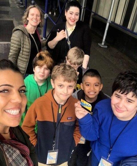 Subway Sleuths Selfie