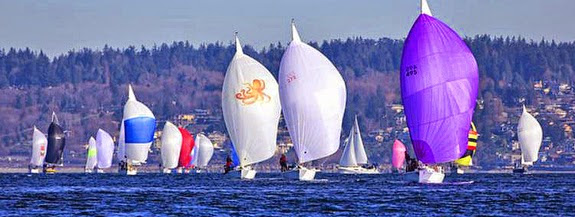 J/105s sailing Blakely Rock race off Seattle