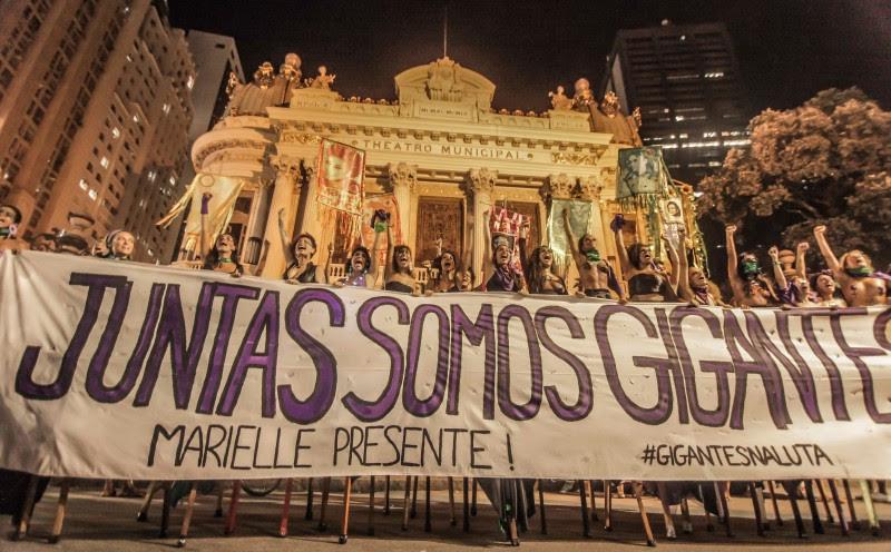 <p>Manifestación en Rio de Janeiro.</p>