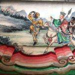 Fresque représentant l'œuvre de Xuanzang, voyageur chinois en Asie centrale Shizhao. (Crédits : Novastan)