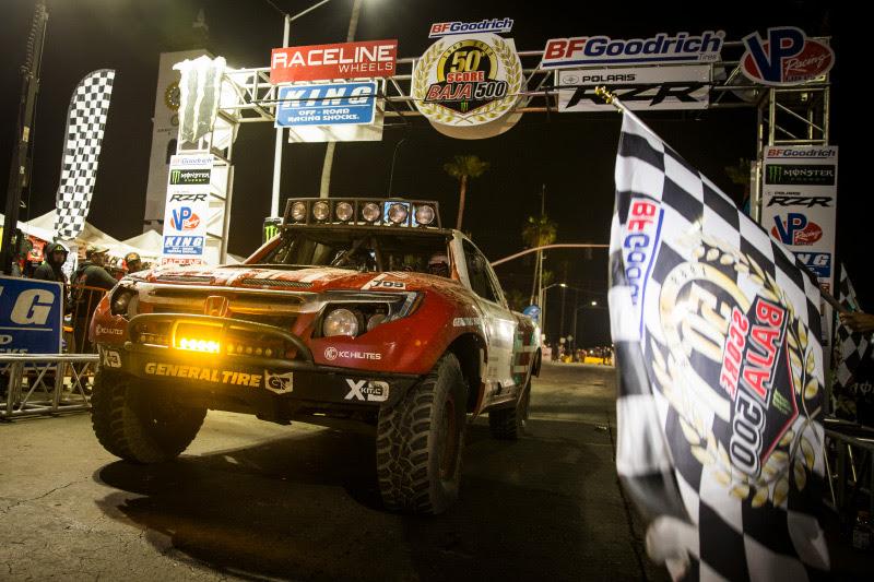Honda Off Road, Honda Ridgeline, Wins 50th Baja 500, SCORE, Class 7, General Tire, KMC Wheels, Bink Designs