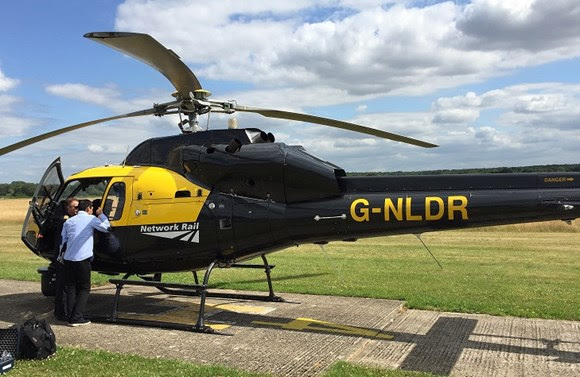 Paddington Station 24/7 takes to the skies with Network Rail's aerial survey team