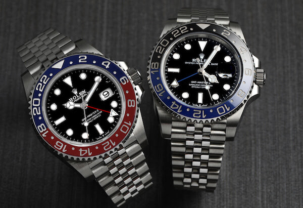 2018 Rolex GMT Master II Pepsi 126710 BLRO besidethe Batman 126710 BLNR