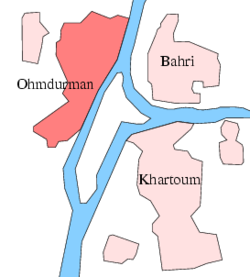 Location of Omdurman, Sudan. (Wikipedia)