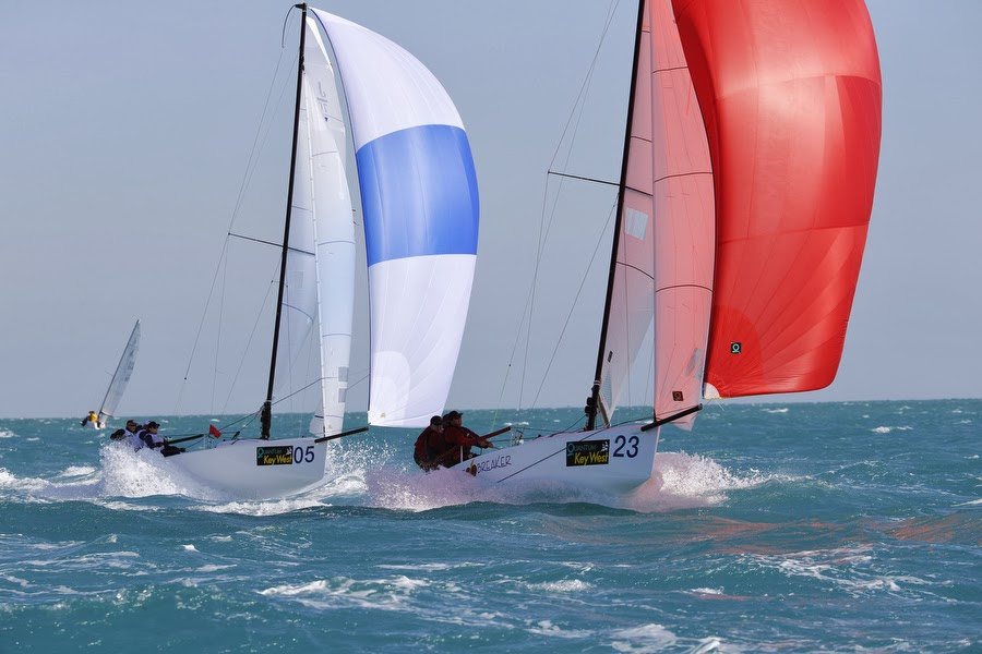J/70s sailing fast off Key West