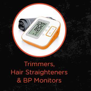 Trimmers, Hair Straighteners & BP Monitors