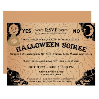 Halloween Soiree Spirit Board Invitation
