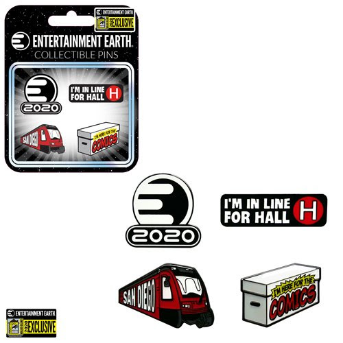 Entertainment Earth Enamel Pin Set of 4 - Convention Exclusive