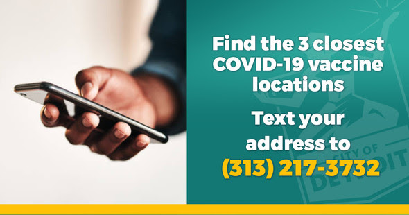 Finding COVID-19 Vaccine Locations Via Text 4.14.21
