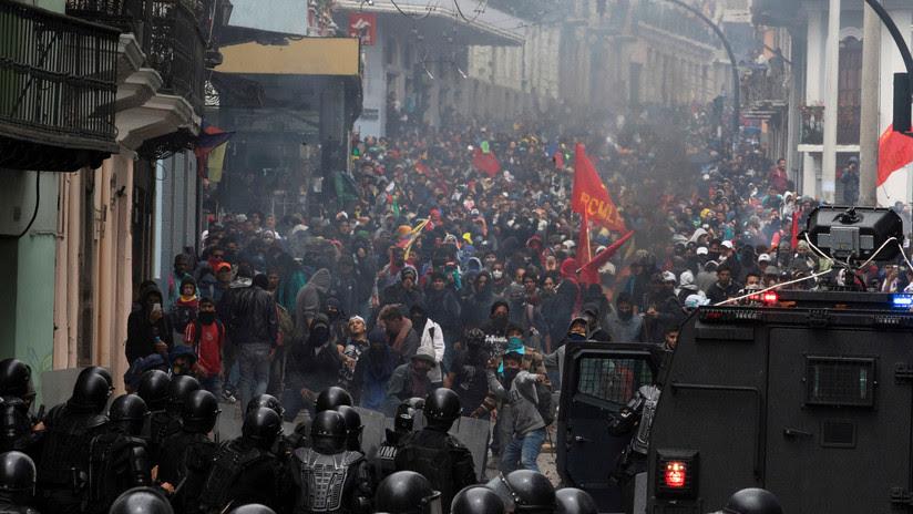 VIDEO: Se reportan saqueos en la ciudad más grande de Ecuador durante protestas contra medidas económicas