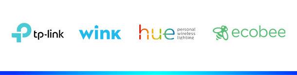 Smart Home Skills: Belkin Wemo, Phillips Hue, Ecobee, Logitiech Harmony, Honeywell, Wink.