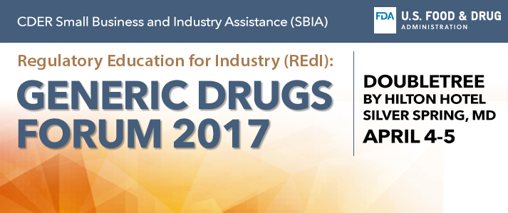 Generic Drugs Forum 2017