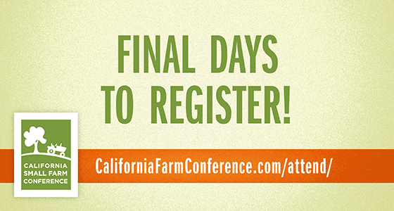 Final Days to Register for the Conference in Sacramento