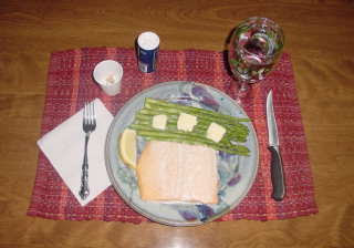 Salmon Dinner.