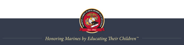 footer image - Honoring Marines by Educating Their Children