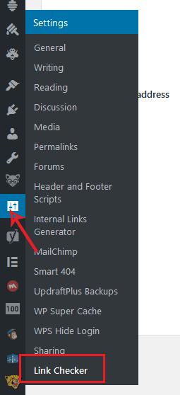 broken links chekcker plugin
