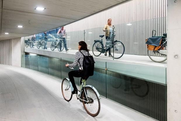 Holanda inaugura maior estacionamento de bicicleta do mundo (Foto: Divulgação)