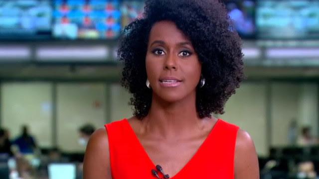 Maju Coutinho apresenta Jornal Hoje com cenas de sexo ao fundo