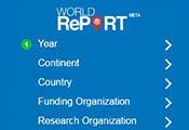 Screen capture of World Report