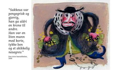 Ilustracja z norweskiej biblii dla dzieci wydanej w roku 2008.