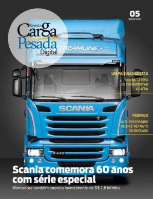 60 anos da Scania e os riscos do Anel rodoviário de BH são destaque da nova edição digital da Carga Pesada