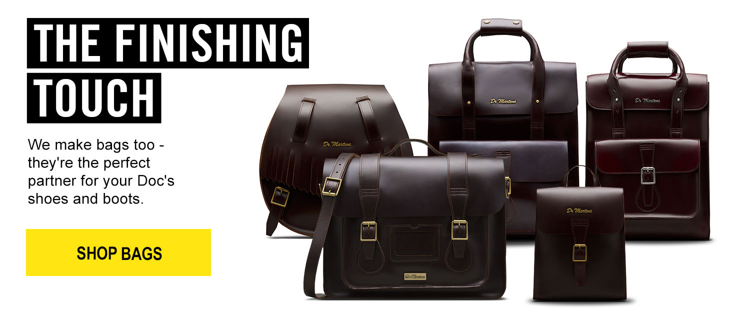 THE FINISHING TOUCH - We make bags too - they're the perfect partner for your Doc's shoes and boots.