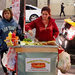 Claudia Gutierrez, left, and Teresa Ramirez sold bacon-wrapped hot dogs early one Sunday last month on the Hollywood Walk of Fame in Los Angeles.