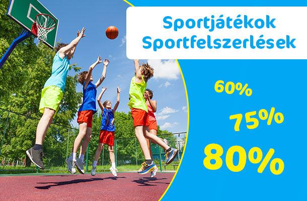 Nagy Nyári Kiárusítás - Sportszer sportjáték akció!