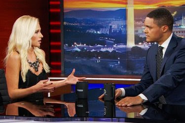 "Tomi Lahren, a conservative commentator, appeared on ""The Daily Show With Trevor Noah."" She has compared the Black Lives Matter movement to the Ku Klux Klan."