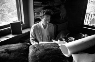 Bob Dylan in his Woodstook Studio
