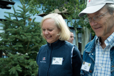 Meg Whitman, a Hewlett-Packard executive who ran for governor of California, with her husband, Griffith R. Harsh IV.