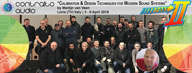 Italy - Calibration & Design Techniques for Modern Sound Systems in English @ Contralto Audio | Loria | Veneto | Italy