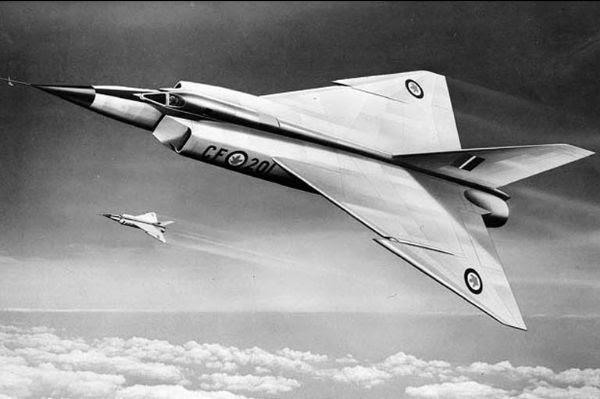 An artist's drawing of an Avro Arrow.