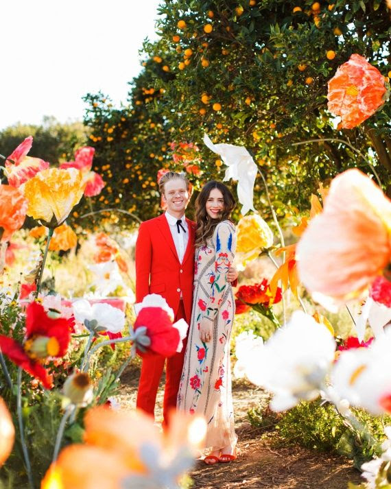 A Colorful DIY Wedding in Southern California