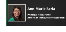 Meet the Researcher Ann-Marie Faria