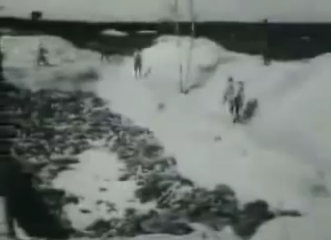 Corpse pit in the region of                             Bergen-Belsen (13min. 30sec.)