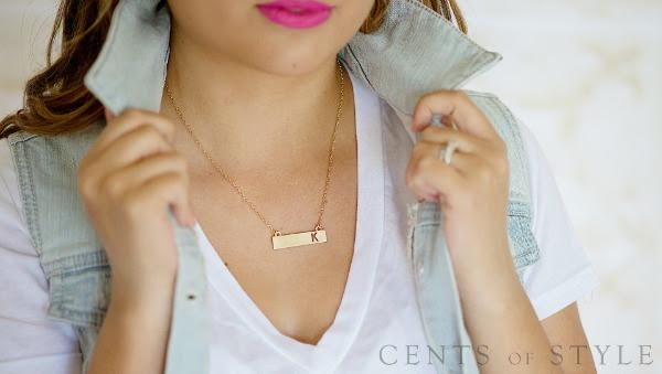 IMAGE: Fashion Friday-8/22/14-Custom Monogram Necklace- $11.95 & FREE SHIPPING w/ Code FASHIONFRIDAY