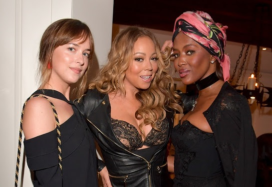 Dakota Johnson and Mariah Carey