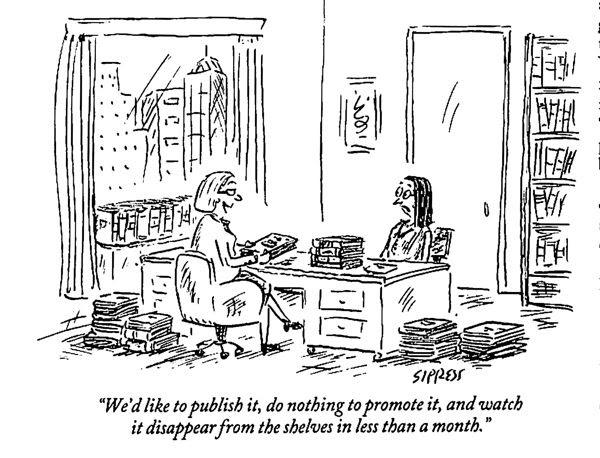 cartoon mocking thepublishing business