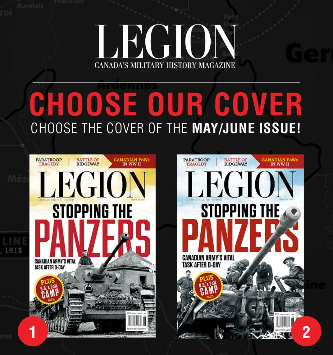 Choose the next cover of Legion Magazine!