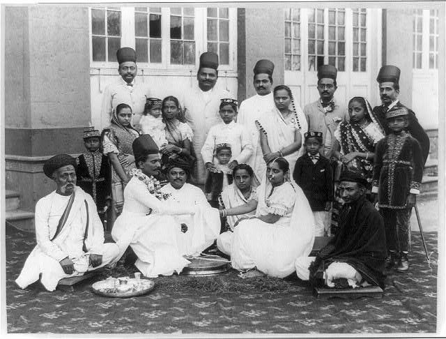 A Parsi wedding ceremony in India, pre-1923