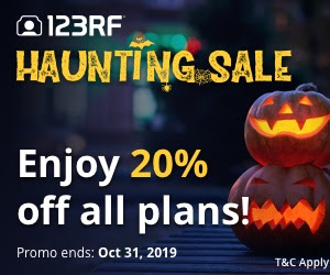 123RF Haunting Sale - Halloween Deal