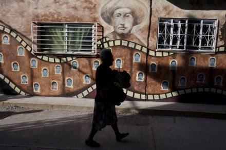 Murales en el Barrio del Campo Santo en Tixtla Guerrero. Foto: Germán Canseco.