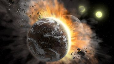 Planet Collisions Solar System Forming