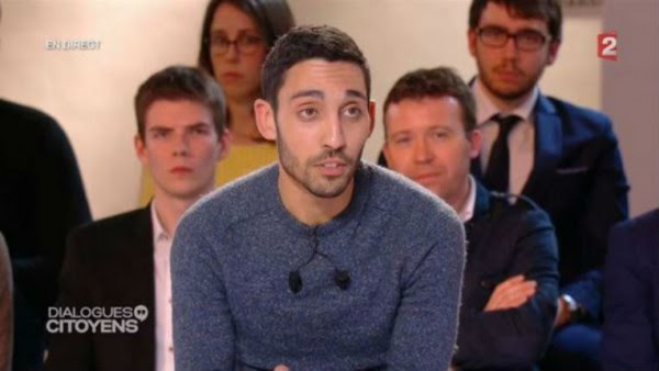 """Marwen Belkaid, le bon """"citoyen"""" choisit par France 2 face à Hollande est antisémite, anti-israélien et négationniste"""