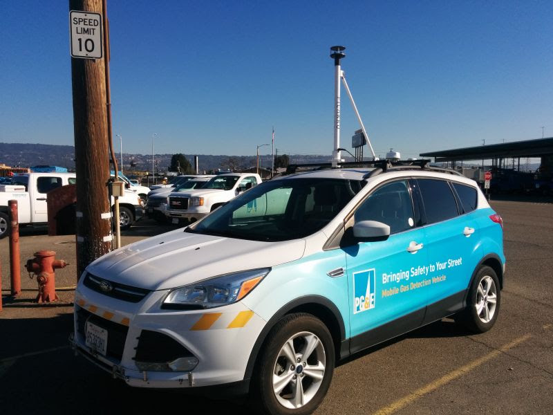 PG&E uses air-monitoring technology made by a company called Picarro to detect natural gas leaks.