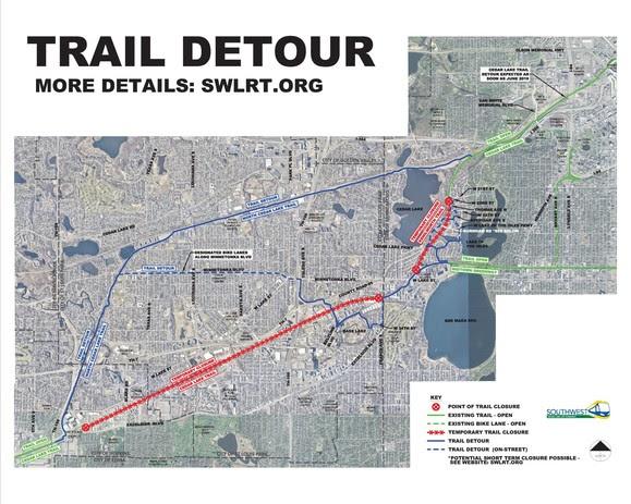 SWLRT Detour Map