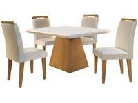 Mesa de Jantar 4 Cadeiras Retangular Rufato